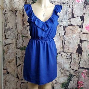 One Clothing Blue Ruffle Dress Size M